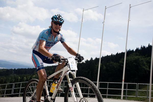 KPŽ Ještěd Tour 2009 - Zerzy má ten hrozný stoupák za sebou...