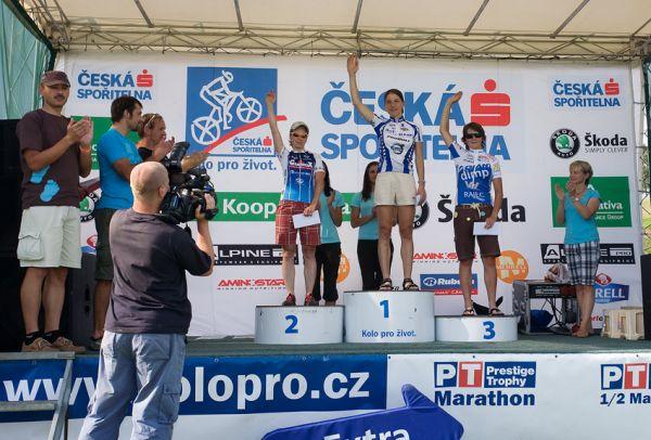 KPŽ Ještěd Tour 2009 - 50km ženy: 1. Kottová 2. Kábrtová 3. Škarnitzlová