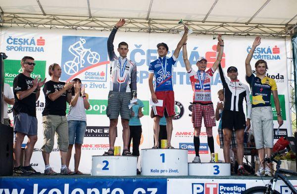 KPŽ Ještěd Tour 2009 - 90km muži: 1. Škarnitzl 2. Sedlář 3. Zelený 4. Janoušek 5. Rybáček