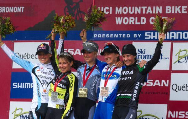Nissan UCI MTB World Cup XCO #6 - Bromont /KAN/ 2.8. 2009 - 1. Byberg, 2. Kalentieva, 3. Pendrel, 4. Osl, 5. McConneloug