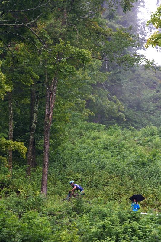 Nissan UCI MTB World Cup XCO #6 - Bromont /KAN/ 2.8. 2009 - a přece se nějaký ten divák našel...
