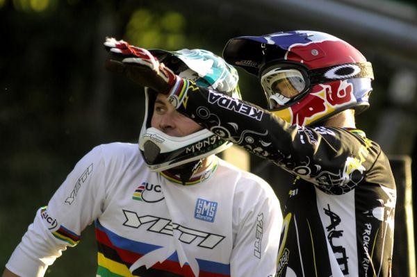 Světový pohár 4X, Schladming 2009: Jared Graves a Michal Prokop před závodem