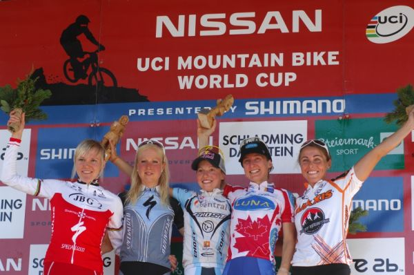 Nissan UCI sv�tov� poh�r MTB #8 - Schladming 2009: 1. Osl, 2. Byberg, 3. Pendrel, 4. Szafraniec, 5. Premont