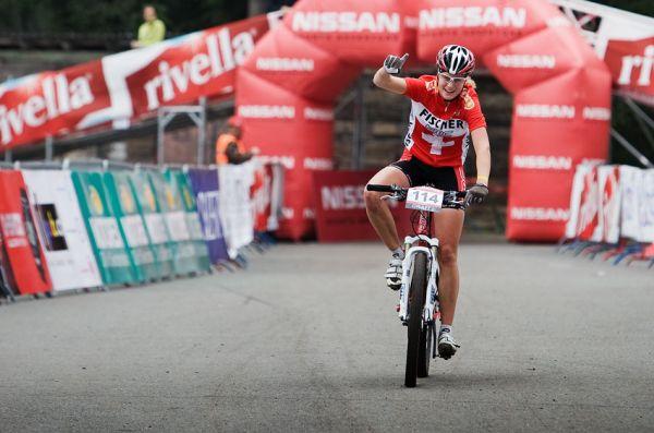 SP XCO Champéry 2009 juniorky - vítězka Michelle Hediger