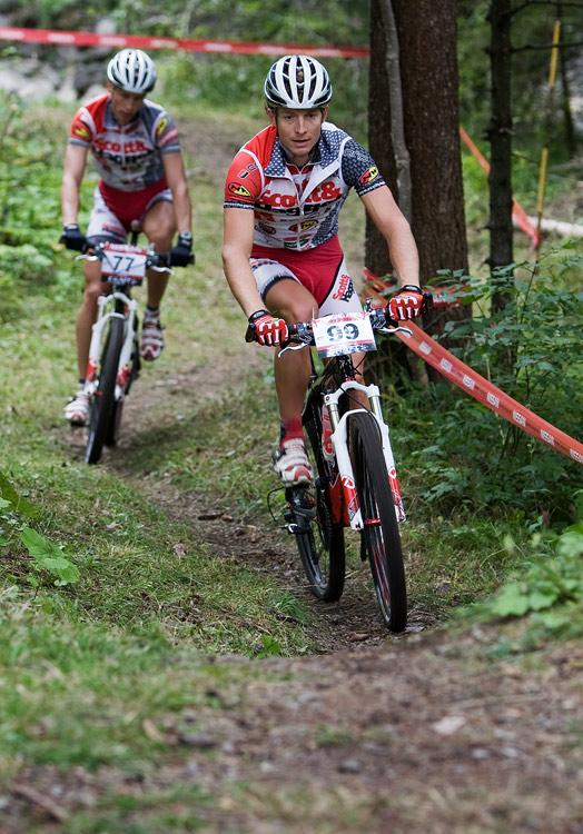 SP XCO Champ�ry 2009 - p�te�n� tr�ninky - Kristi�n Hynek a Matou� Ulman