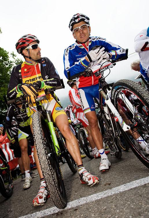 SP XCO Champéry 2009 - José Antonio Hermida a Julien Absalon