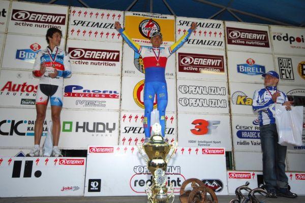 Mistrovstv� �R v MTB maratonu - Specialized Rallye Sudety '09: 1. Hru�ka, 2. Nov�k, 3. Ryba��k