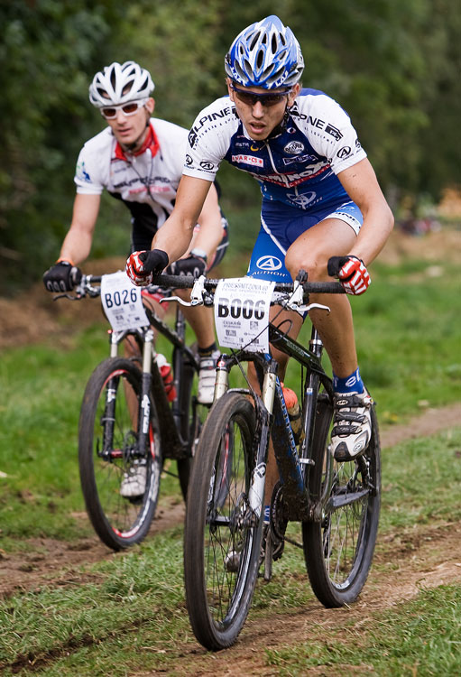 KPŽ Priessnitzova 60 2009 - Michal Plesník jede se ztrátou po defektu