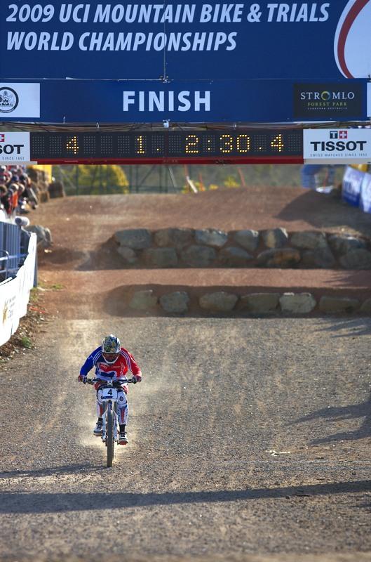 Mistrovství světa MTB DH 2009, Canberra /AUS/ - Steve Peat se stává mistrem světa