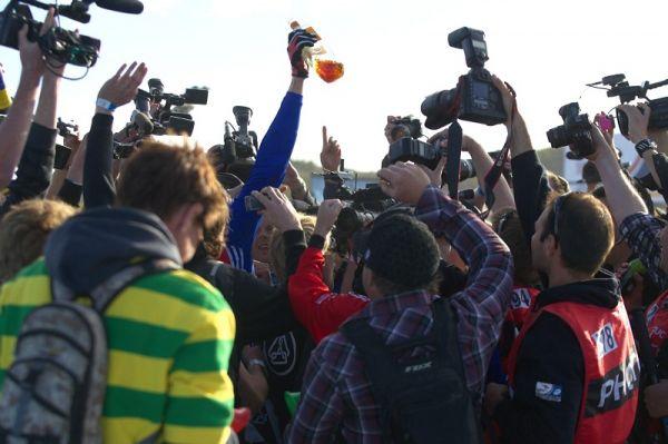 Mistrovství světa MTB DH 2009, Canberra /AUS/ - oslavy vypukly ihned po dojezdu posledního downhillera