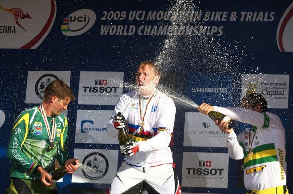 Mistrovství světa MTB DH 2009, Canberra /AUS/ - oslavy mistra světa