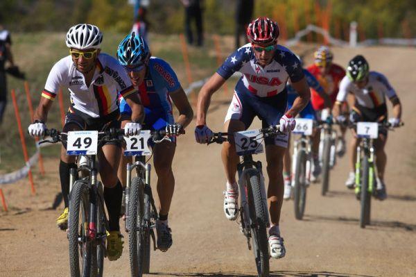 Mistrovství světa MTB XCO 2009 - Canberra /AUS/ - Lado Fumic, Milan Spěšný a Todd Wells