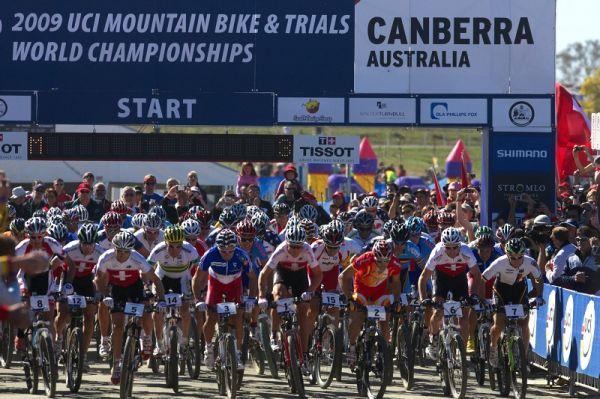 Mistrovství světa MTB XCO 2009 - Canberra /AUS/ - start 20. mistrovství světa XCO