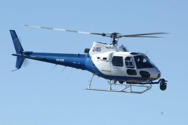 Mistrovství světa MTB XC 2009, Canberra: vrtulník s kamerou