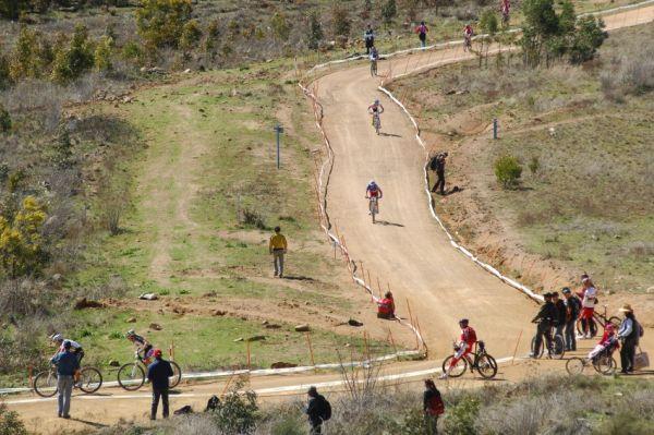 Mistrovství světa MTB XC 2009, Canberra: rozestupy ve čtvrtém kole od druhého do sedmého místa