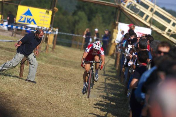 """Cyklokros - Toi Toi Cup 2. závod, Stříbro 26.9. 2009 - """"jeď Martine, Štyby je kousíček!"""""""