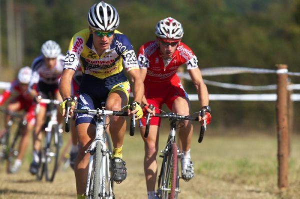 Cyklokros - Toi Toi Cup 2. závod, Stříbro 26.9. 2009 - Klouček a Bambula