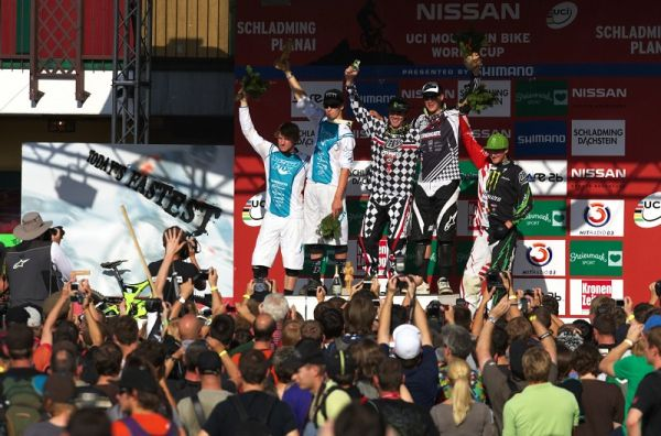 Nissan UCI MTB World Cup DH #8, Schladming 20.9. 2009 - 1. Hill, 2. Blenkinsop, 3. Minaar, 4. Gwin, 5. Fairclough