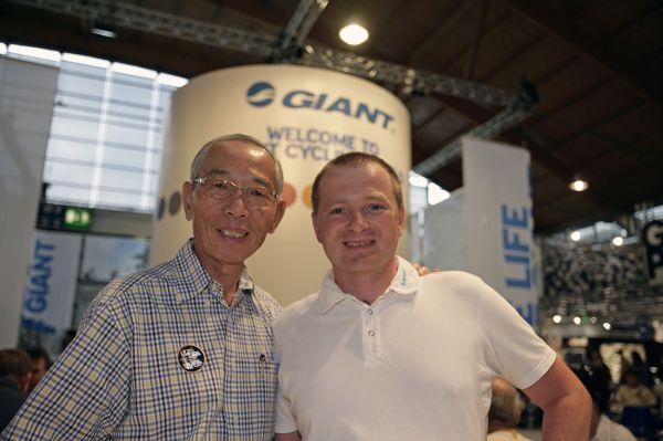 JIří Píša s majitelem firmy Giant