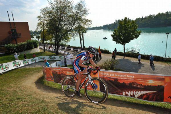 Světový pohár v cyklokrosu - 1. závod 3.10. 2009, Treviso/Itálie - Kathie Comton, foto: Armin Küstenbrück