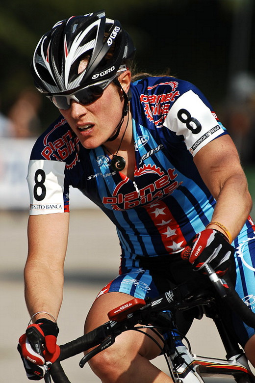 Světový pohár v cyklokrosu - 1. závod 3.10. 2009, Treviso/Itálie - Kathie Compton, foto: Armin Küstenbrück