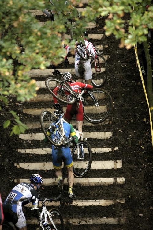 Světový pohár v cyklokrosu #2, Plzeň 18.10.2009 - Plzeňské schody