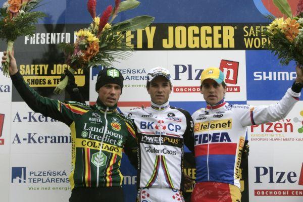 Světový pohár v cyklokrosu #2, Plzeň 18.10.2009 - 1. Albert, 2. Nijs, 3. Štybar