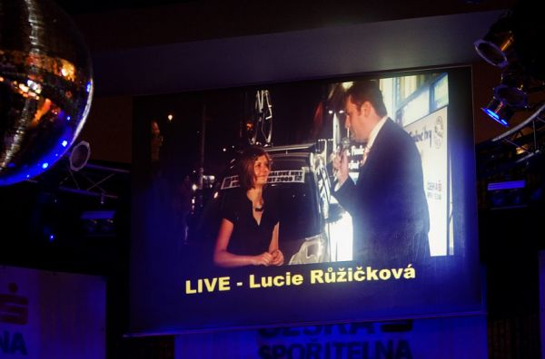 KPŽ Finálový večer 2009 - záběry z předávání ceny byly živě přenášeny do sálu