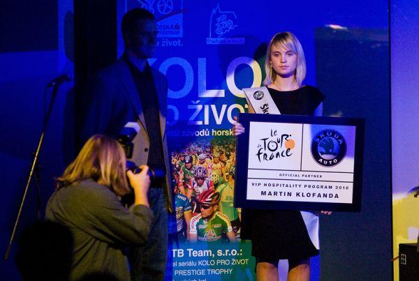 KPŽ Finálový večer 2009 - jednou z předávaných cen byl i exklusivní zájezd se Škodou na Tour de Franc 2010
