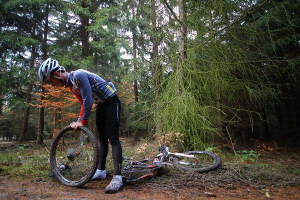 Winter Trans Brdy 2009 - defekt Jirky Hudečka