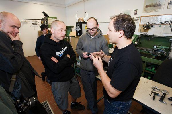 Rohloff 2009 - Marco Rauch v debatě s Alešem, Petrem a Karlem