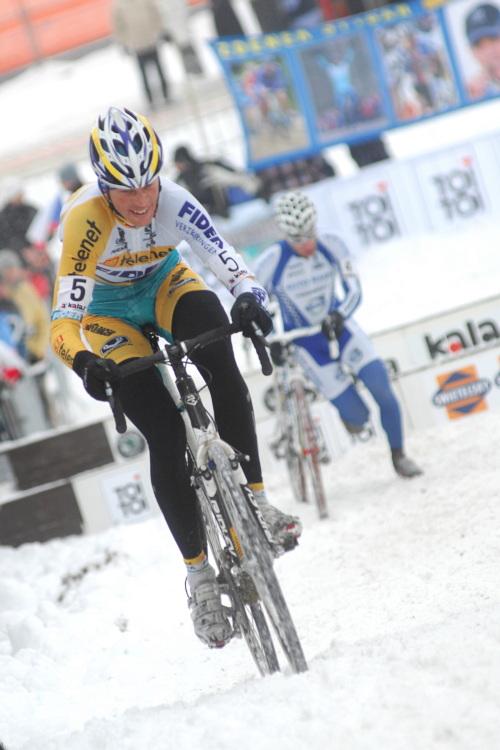 Mistrovství ČR v cyklokrosu 2010, Tábor: Petr Dlask se posouvá dopředu