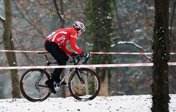 Vánoční cyklokros Praha-Stromovka 2009: David Kášek