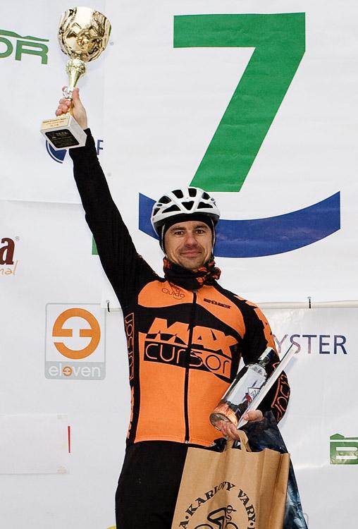 Vánoční cyklokros Praha-Stromovka 2009 - vítěz Zdeněk Mlynář