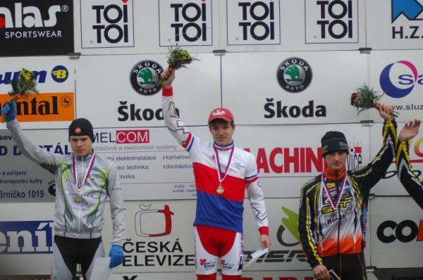 Toi Toi Cup - Uničov 2009: MČR juniorů - 1. Nipl, 2. Polnický, 3. Paprstka