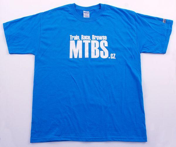 MTBS tričko modré (potisk na prsou a logo na rukávu)