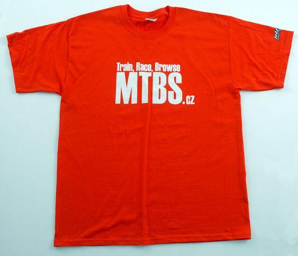 MTBS tričko oranžové (potisk na prsou a logo na rukávu)