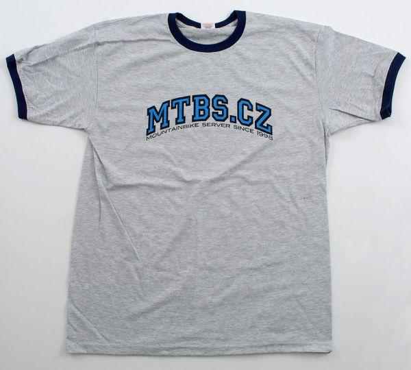 MTBS tričko šedé (potisk na prsou)