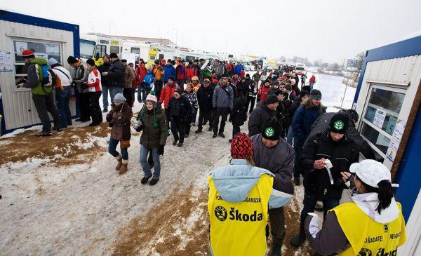MS cyklokros Tábor 2010 - fanoušci, atmosféra...: táborské pokladny