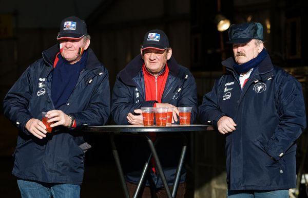MS cyklokros Tábor 2010 - fanoušci, atmosféra...: skalní belgičtí biermani během závodu nebyli k odtržení...