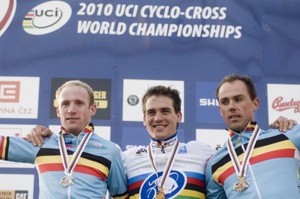 Mistrovství světa v cyklokrosu, Tábor 2010 - Elite: 1. Štybar, 2. Vantornout, 3. Nijs