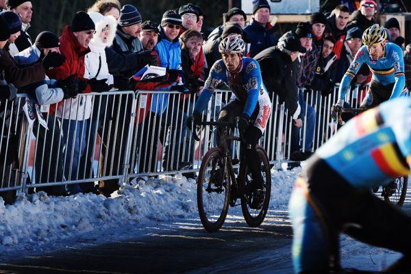 Mistrovství světa v cyklokrosu, Tábor 2010 - Elite: Martin Bína bojoval o druhé místo s Belgičany