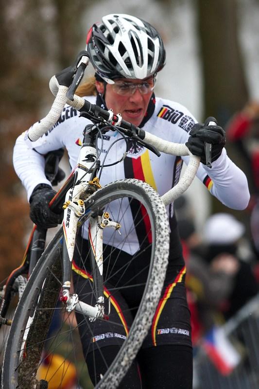 Mistrovství světa v cyklokrosu - Tábor 31.1. 2010 - závod žen - Hanka Kupfernagel