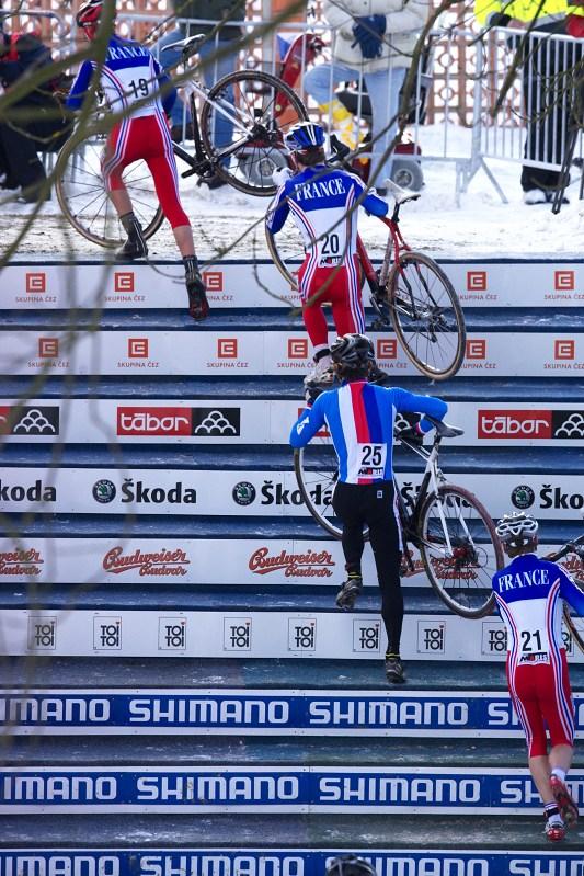 Mistrovství světa v cyklokrosu - Tábor 30.1. 2010 - Dlaskovy schody