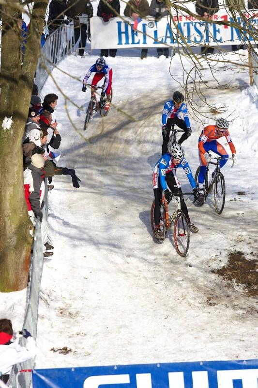 Mistrovství světa v cyklokrosu - Tábor 30.1. 2010 - na tomto místě byla regulérní ledovka