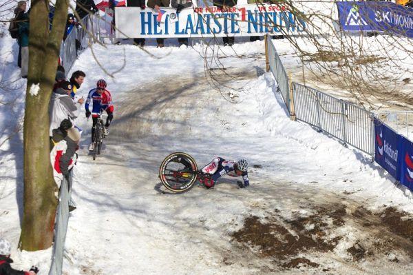 Mistrovství světa v cyklokrosu - Tábor 30.1. 2010 - ledovka nesedla každému