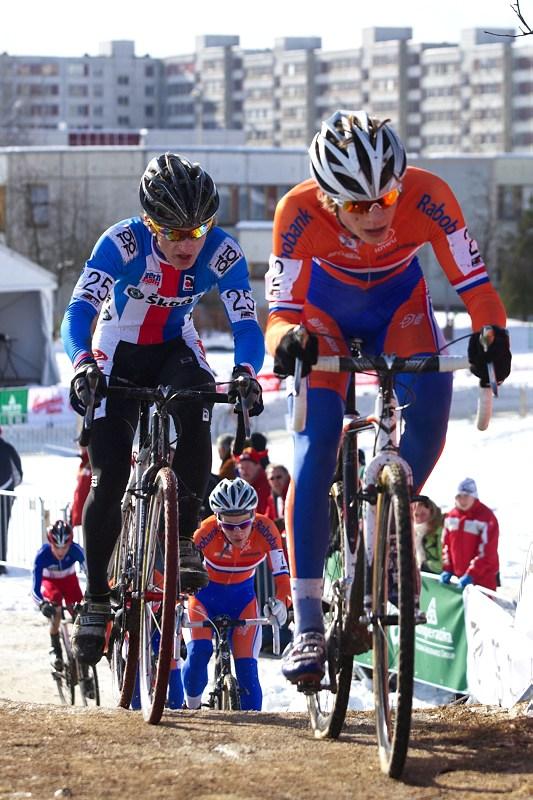 Mistrovství světa v cyklokrosu - Tábor 30.1. 2010 - Daniel Van Der Poel byl největším favoritem, ale dokončil osmý, zde s Tomem Paprstkou