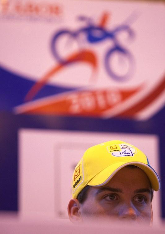 Cyklokrosové MS v Táboře 2010 - čtvrtek: Zdeněk Štybar na tiskové konferenci