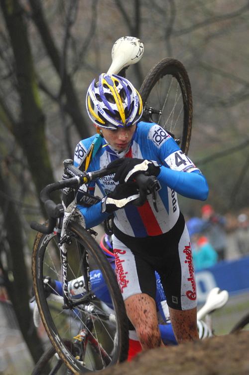 SP cyklokrosa�� Hoogerheide 2010 - junio�i & U23: Karel Hn�k