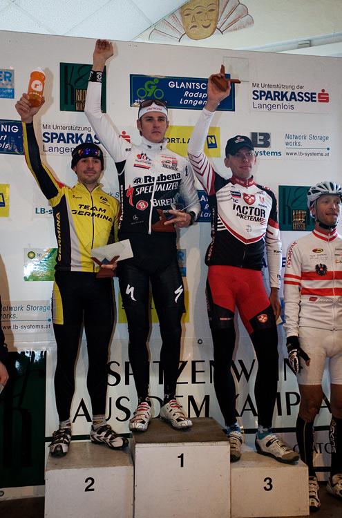 Kamptal Klassik Trophy 2010: 1. Jaroslav Kulhavý 2. Rene Tann 3. Tomáš Vokrouhlík